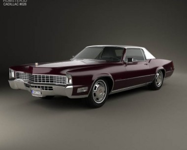 3D model of Cadillac Eldorado Fleetwood 1968