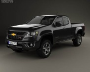3D model of Chevrolet Colorado Extended Cab 2014
