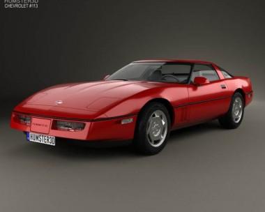 3D model of Chevrolet Corvette (C4) coupe 1983
