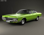 3D model of Dodge Polara Hardtop Coupe 1970