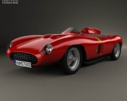 3D model of Ferrari 857 Sport Scaglietti Spider 1955