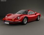 3D model of Ferrari Dino 246 GT 1969