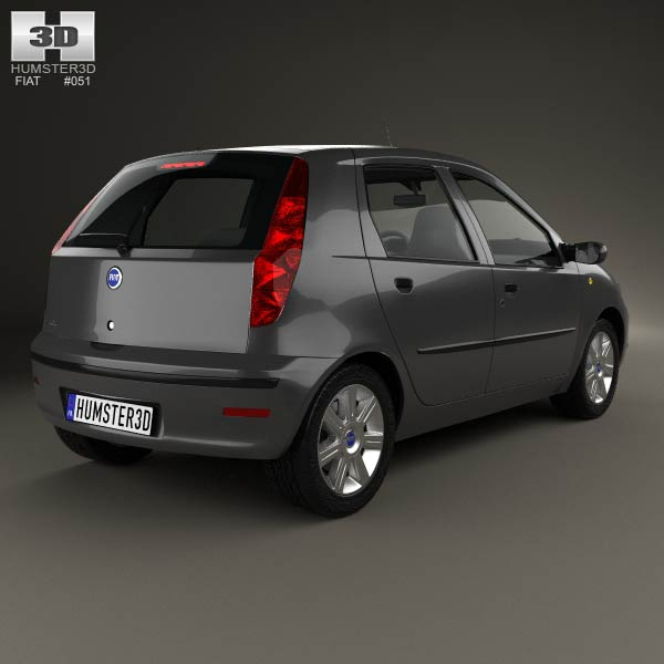 fiat punto 5 door 2003 3d model humster3d. Black Bedroom Furniture Sets. Home Design Ideas