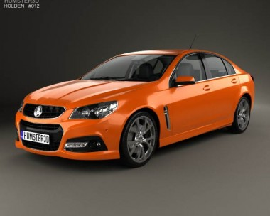 3D model of Holden VF Commodore Calais V SSV with HQ interior 2013