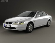 3D model of Honda Accord coupe 1998