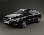 3D model of Hyundai Sonata (NF) 2008