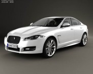 3D model of Jaguar XF with HQ interior 2012