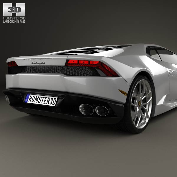 lamborghini huracan 2015 3d model humster3d. Black Bedroom Furniture Sets. Home Design Ideas