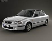 3D model of Mazda 323 (Familia) 1998
