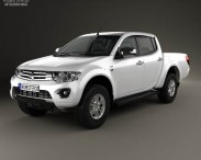 3D model of Mitsubishi L200 Triton Double Cab HPE 2014