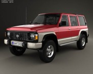 3D model of Nissan Patrol (Y60) 5-door 1987