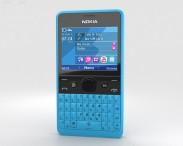 3D model of Nokia Asha 210 Cyan
