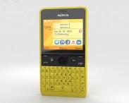 3D model of Nokia Asha 210 Yellow
