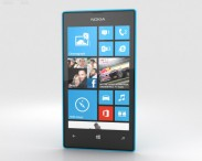 3D model of Nokia Lumia 520 Cyan