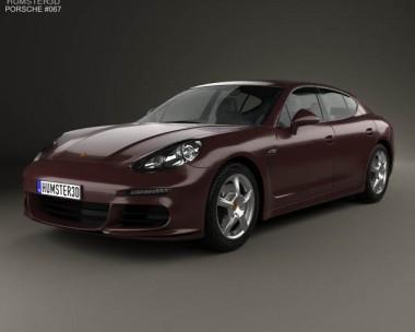3D model of Porsche Panamera 2014