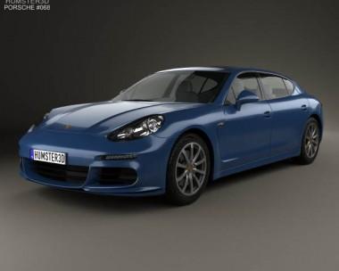 3D model of Porsche Panamera 4S Executive 2014