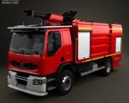 3D model of Renault Premium Lander Fire Truck 2011