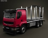 3D model of Renault Premium Lander Logging Truck 2006
