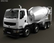 3D model of Renault Premium Lander Mixer Truck 2006
