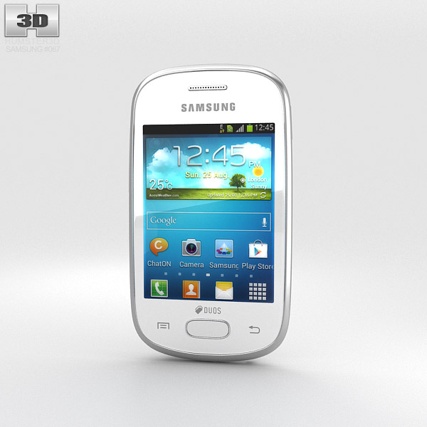 Samsung Galaxy Star White 3D model - Humster3D