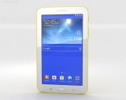 3D model of Samsung Galaxy Tab 3 Lite Yellow