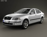 3D model of Skoda Octavia liftback 2005