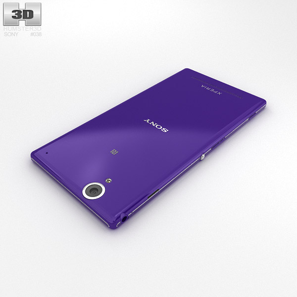 3D model of Sony Xperia T2 Ultra PurpleXperia T2 Purple