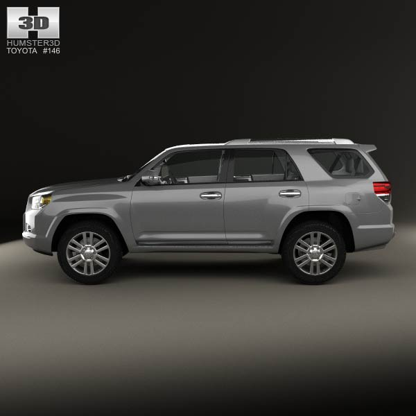 toyota 4runner with hq interior 2011 3d model humster3d. Black Bedroom Furniture Sets. Home Design Ideas