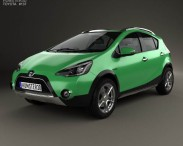 3D model of Toyota Aqua Cross 2013