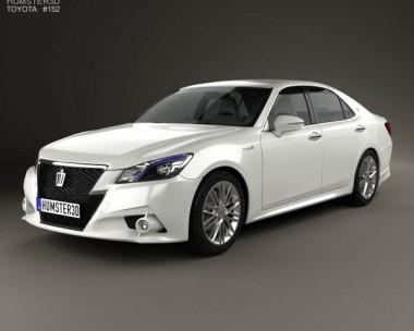 3D model of Toyota Crown Hybrid Athlete 2013