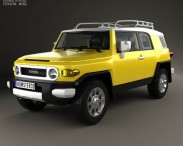3D model of Toyota FJ Cruiser with HQ interior 2010