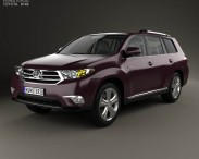3D model of Toyota Highlander with HQ interior 2011