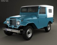 3D model of Toyota Land Cruiser (J20) softtop 1958