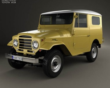 3D model of Toyota Land Cruiser (J20) hardtop 1955