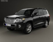 3D model of Toyota Land Cruiser (J200) with HQ interior 2013
