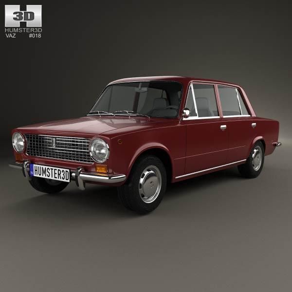 3D model of VAZ Lada 2101 1970
