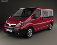 3D model of Vauxhall Vivaro Passenger Van 2006