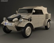 3D model of Volkswagen Kubelwagen 1945