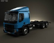 3D model of Volvo FE Chassis Truck 2013