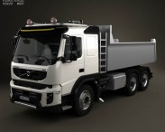 3D model of Volvo FMX Tipper Truck 2010