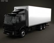 3D model of Volvo VM Box Truck 2003