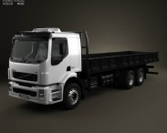 3D model of Volvo VM Flatbed Truck 2003