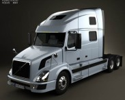 3D model of Volvo VNL Tractor Truck 2002