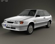 3D model of VAZ Lada Samara (2113) hatchback 3-door 1997
