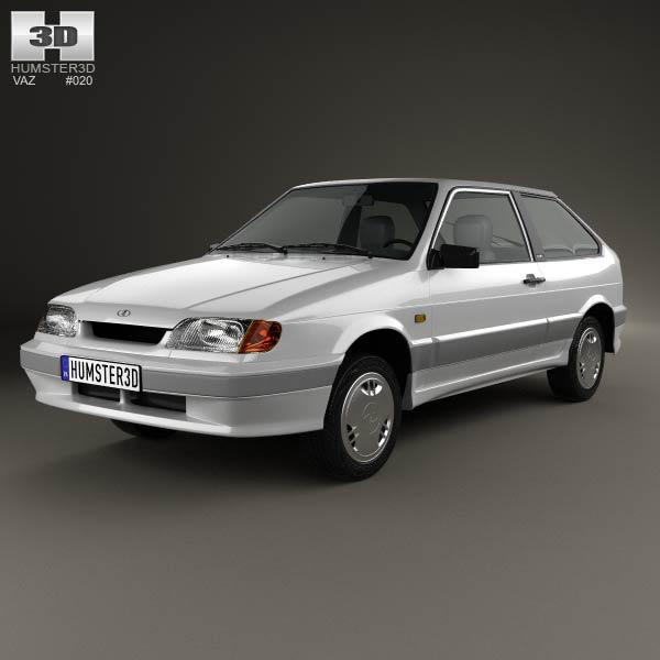 3D model of VAZ Lada Samara (2113) hatchback 3-door 1997