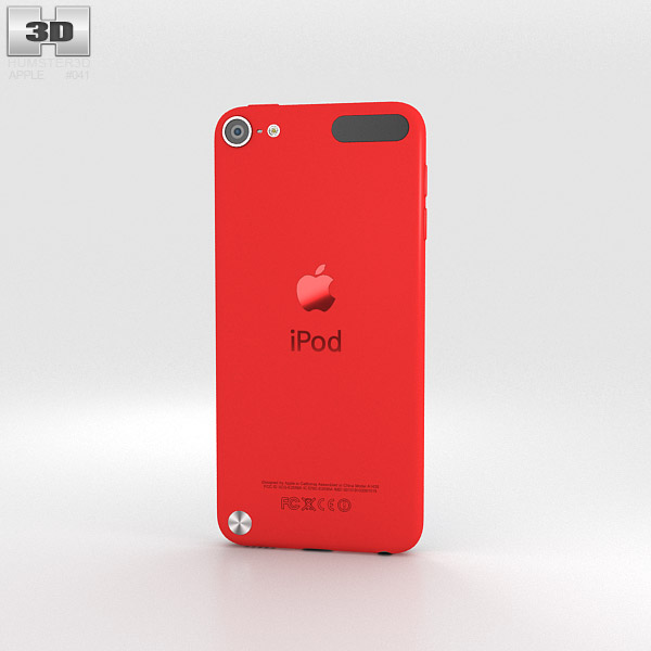 apple ipod touch red 3d model humster3d. Black Bedroom Furniture Sets. Home Design Ideas