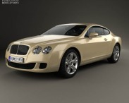 3D model of Bentley Continental GT 2007