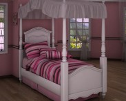 3D model of Ashley Exquisite Twin Poster Bed