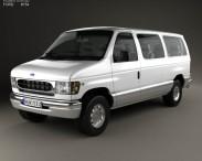 3D model of Ford E-Series Passenger Van 1998