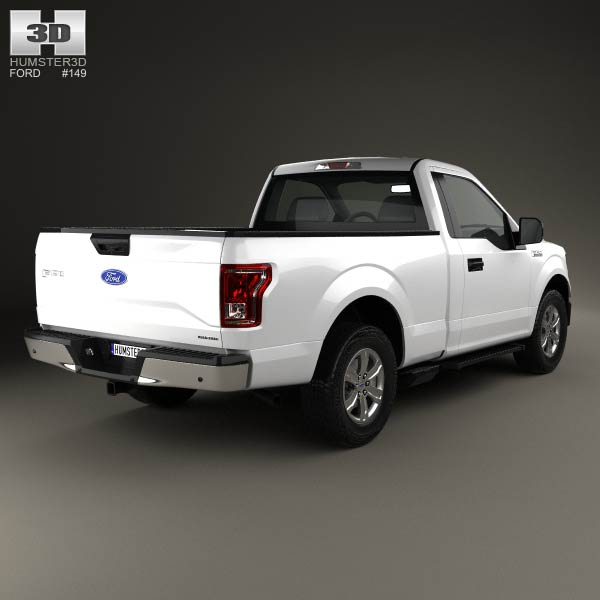 ford f 150 regular cab xlt 2014 3d model humster3d. Black Bedroom Furniture Sets. Home Design Ideas